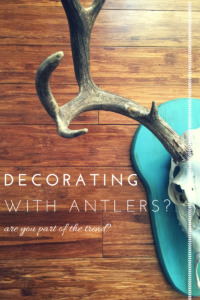 Decorating Deer Antlers