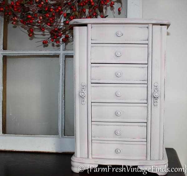 How To Layer Diy Chalk Type Paint Jewelry Box Makeover