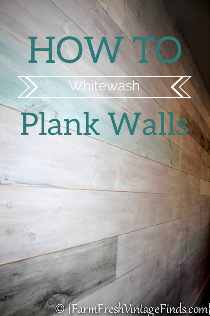 How to Whitewash Plank Walls