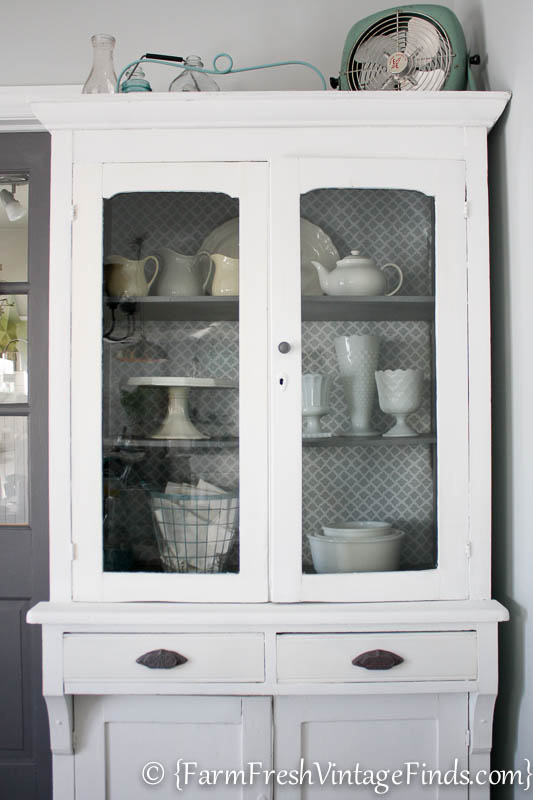 White and Gray Cupboard