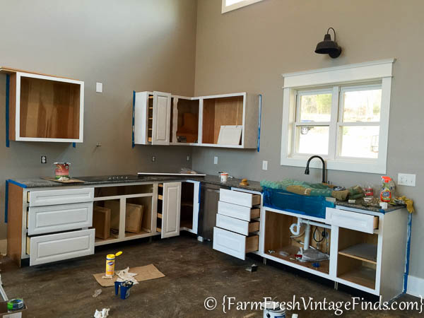 Custom Painted Kitchen Cabinets-2