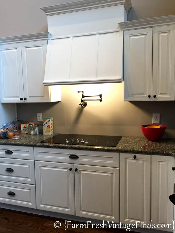 client custom kitchen on a builder grade budget part 2