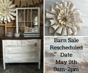 Facebook Barn Sale Reschedule Post