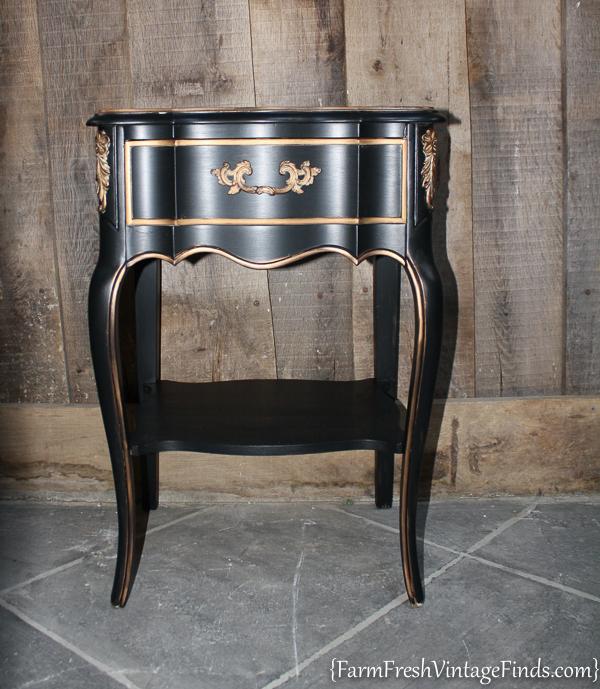 Black Velvet French Provencial Dresser-11