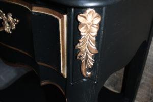 French Provincial Dresser Makeover in Black