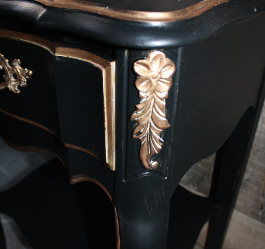 French Provincial Dresser Makeover in Black