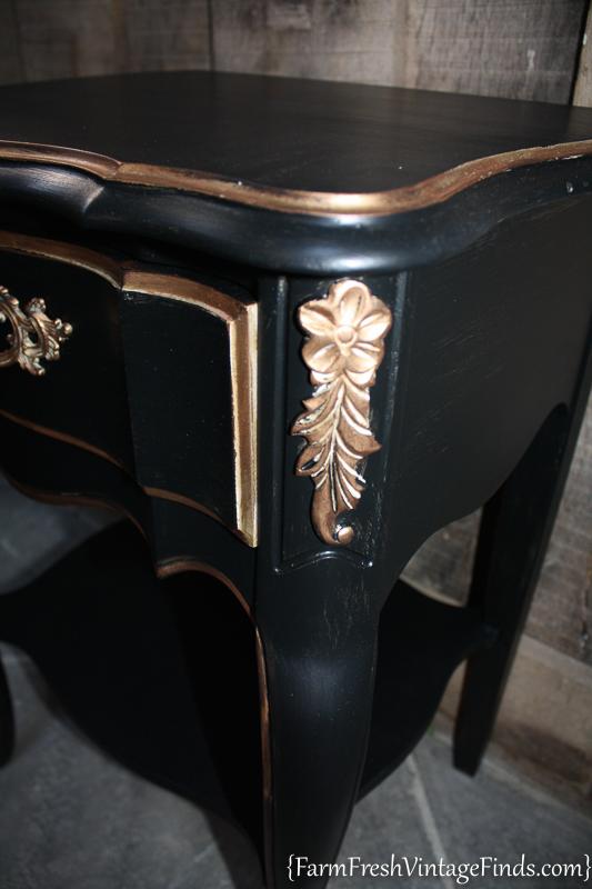 Black Velvet French Provencial Dresser-14