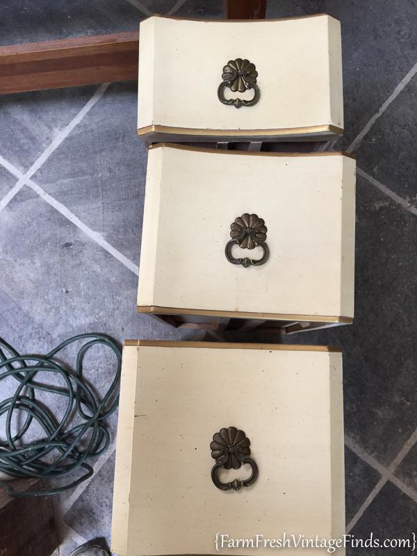 Black Velvet French Provencial Dresser-2