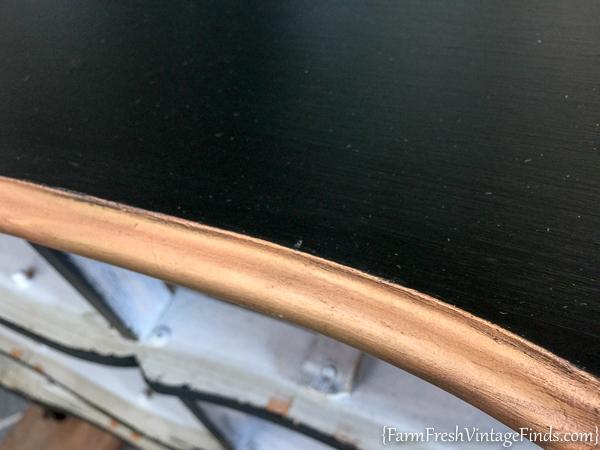 Black Velvet French Provencial Dresser-3