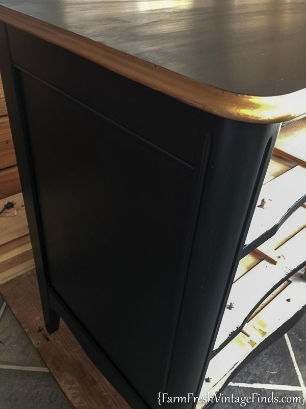 Black Velvet French Provencial Dresser-4