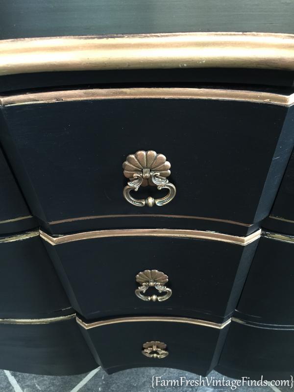 Black Velvet French Provencial Dresser-5