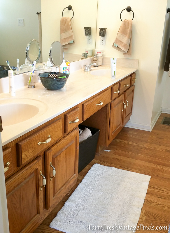 how to paint an oak bathroom vanity20