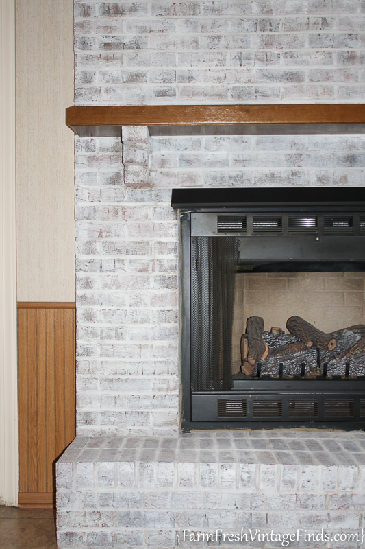 How to Whitewash a Fireplace with DIY Chalk Type Paint-11