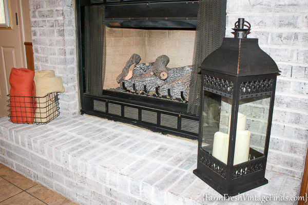 How to Whitewash a Fireplace with DIY Chalk Type Paint-14