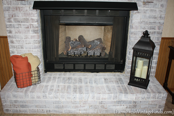 How to Whitewash a Fireplace with DIY Chalk Type Paint-28