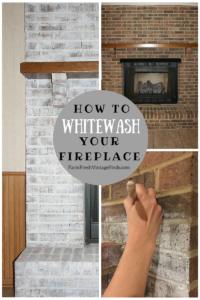 Whitewash Fireplace