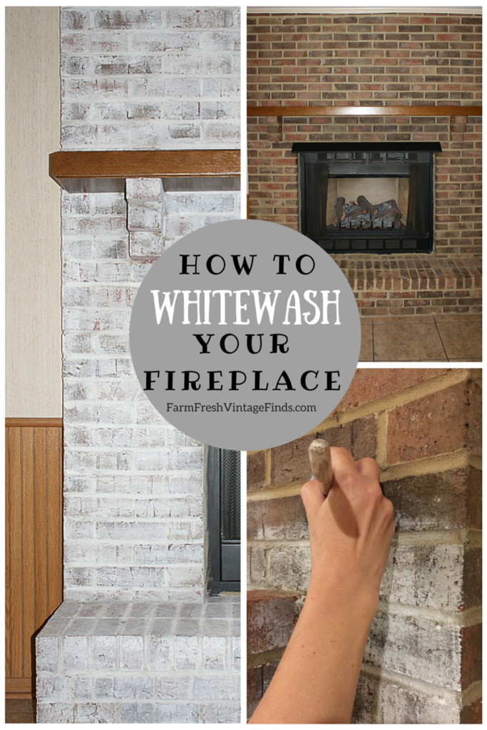 Whitewash Fireplace
