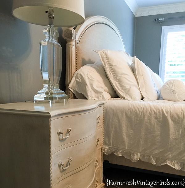 Painted Dresser with Dark Wax-16