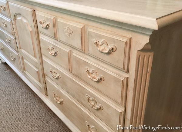 Painted Dresser with Dark Wax-2