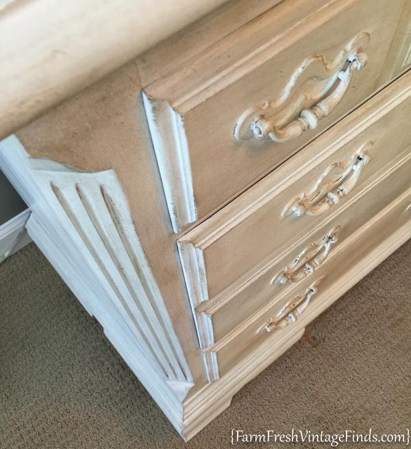 Painted Dresser with Dark Wax-3