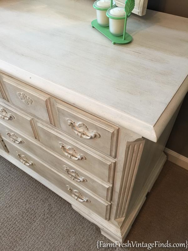 Painted Dresser with Dark Wax-8