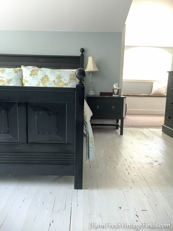 Master Bedroom Makeover - Painted Floors