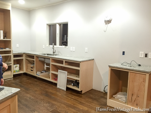 Painting and Waxing Kitchen Cabinets-2