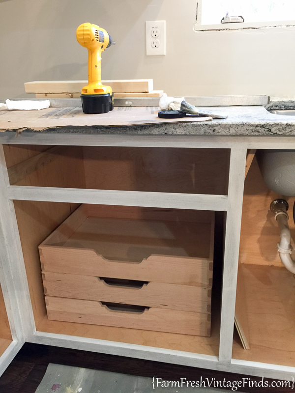 Painting and Waxing Kitchen Cabinets-20