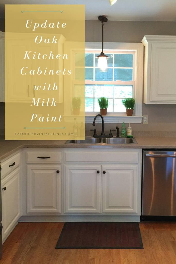 Painted Oak Kitchen Cabinet Reveal Farm Fresh Vintage Finds