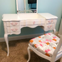 French Provincial Vanity Makeover in DIY Vintage Linen