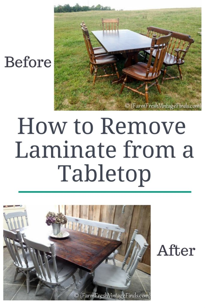 Remove Laminate from a Table