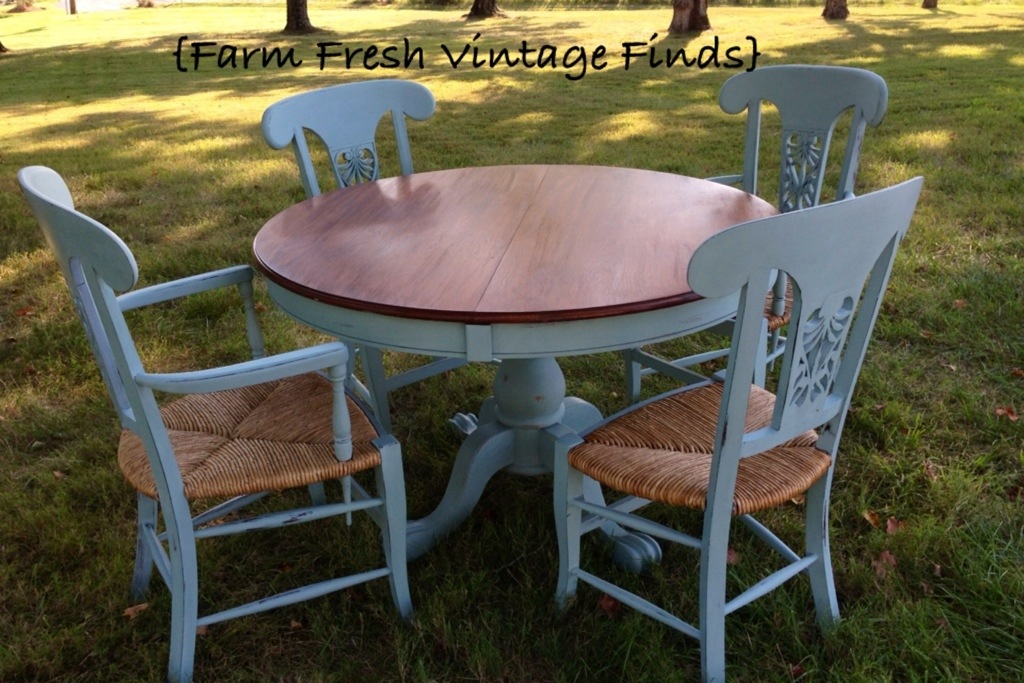 Duck Egg Table And Chairs