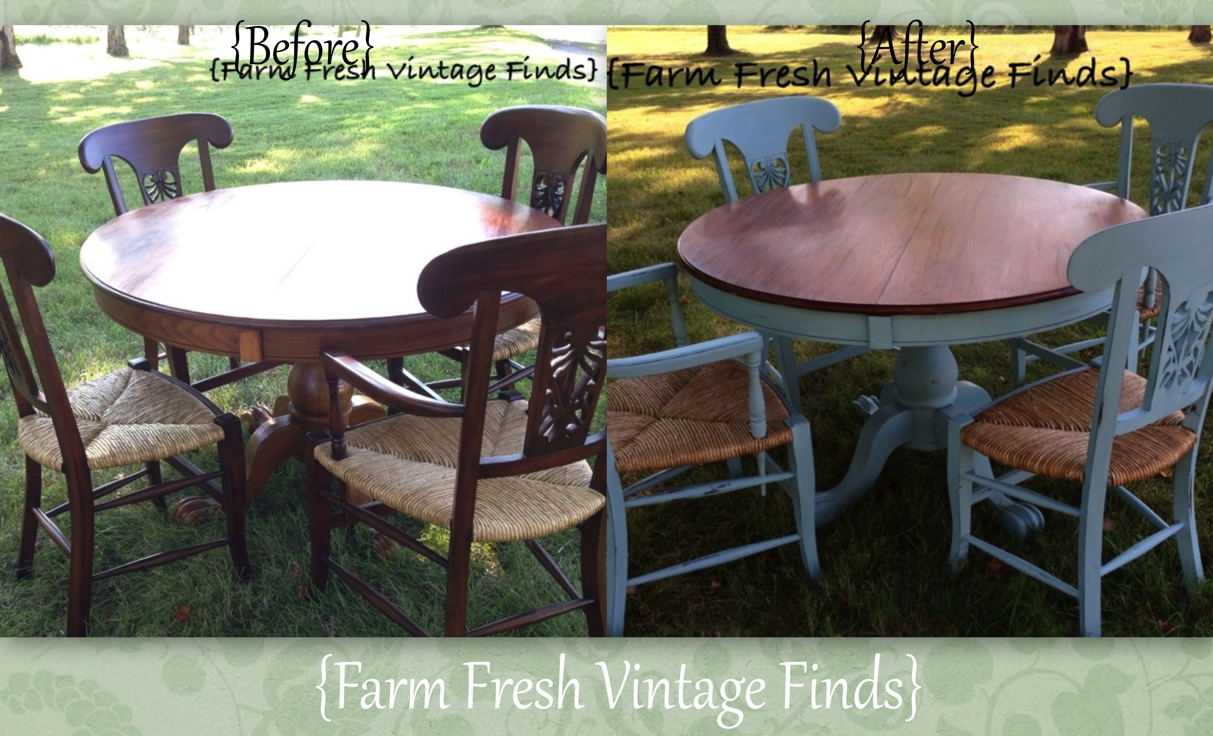 Annie Sloan Duck Egg Table And Chairs