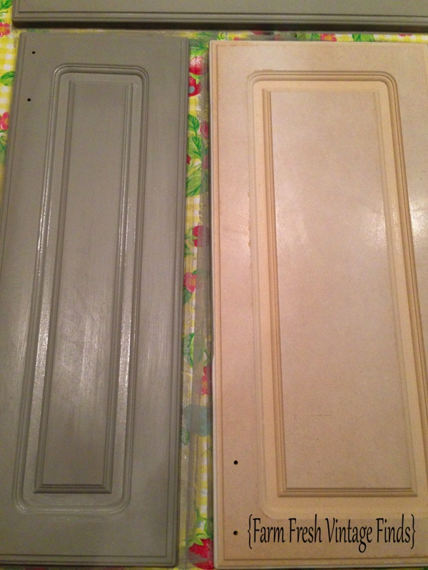 Painting Thermofoil Kitchen Cabinets Part 2 - Farm Fresh ...