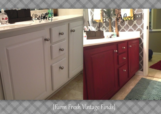 How to Transform Your Bathroom Vanity - Farm Fresh Vintage Finds