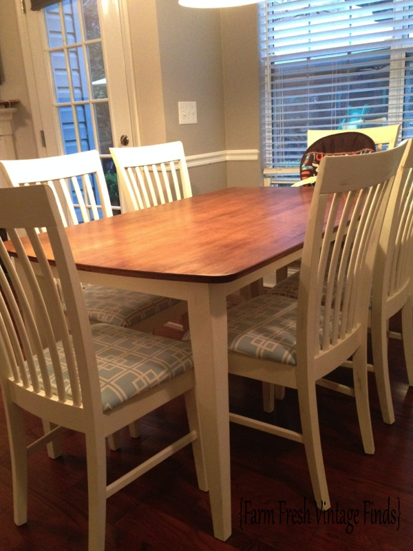 table transformation with general finishes gel stain - farm fresh
