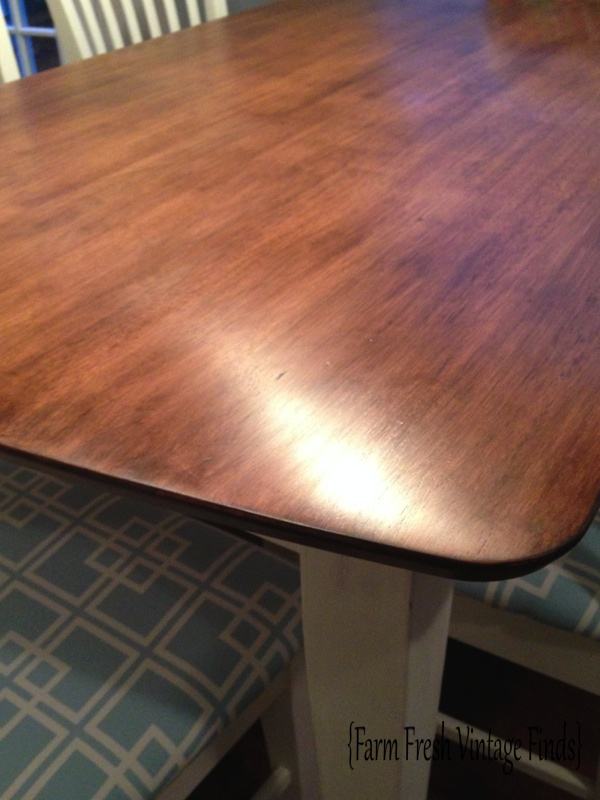 Table Transformation With General Finishes Gel Stain