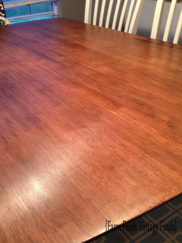 Table Transformation With General Finishes Gel Stain Farm Fresh