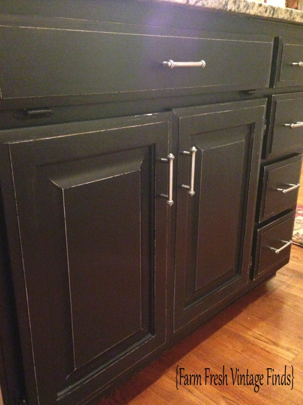 Oak Kitchen Cabinets In Annie Sloan Chateau Grey And