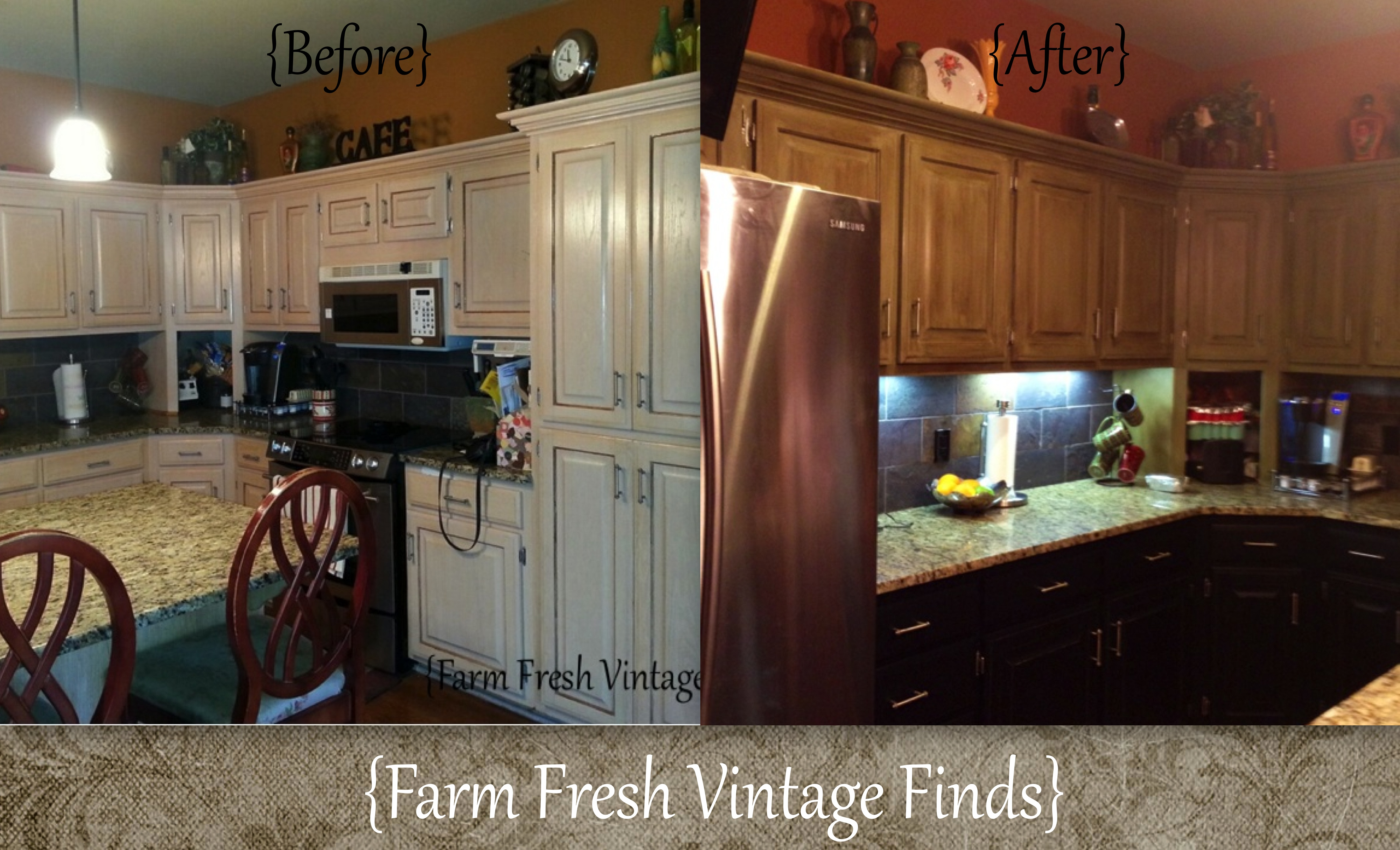 Oak Kitchen Cabinets In Annie Sloan Chateau Grey And Reclaim