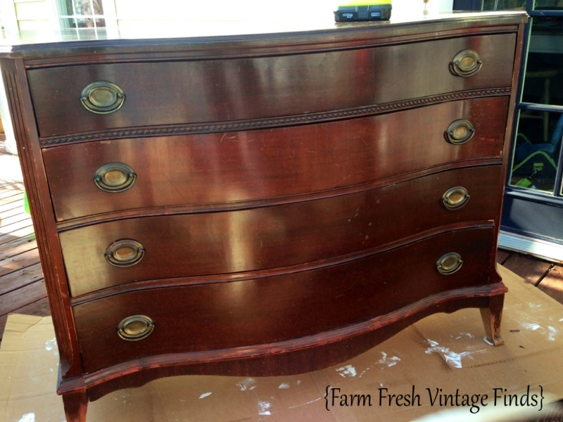 fl dresser 2 - How To Transform A Dresser With Paint And Gel Stain Part 1 - Farm