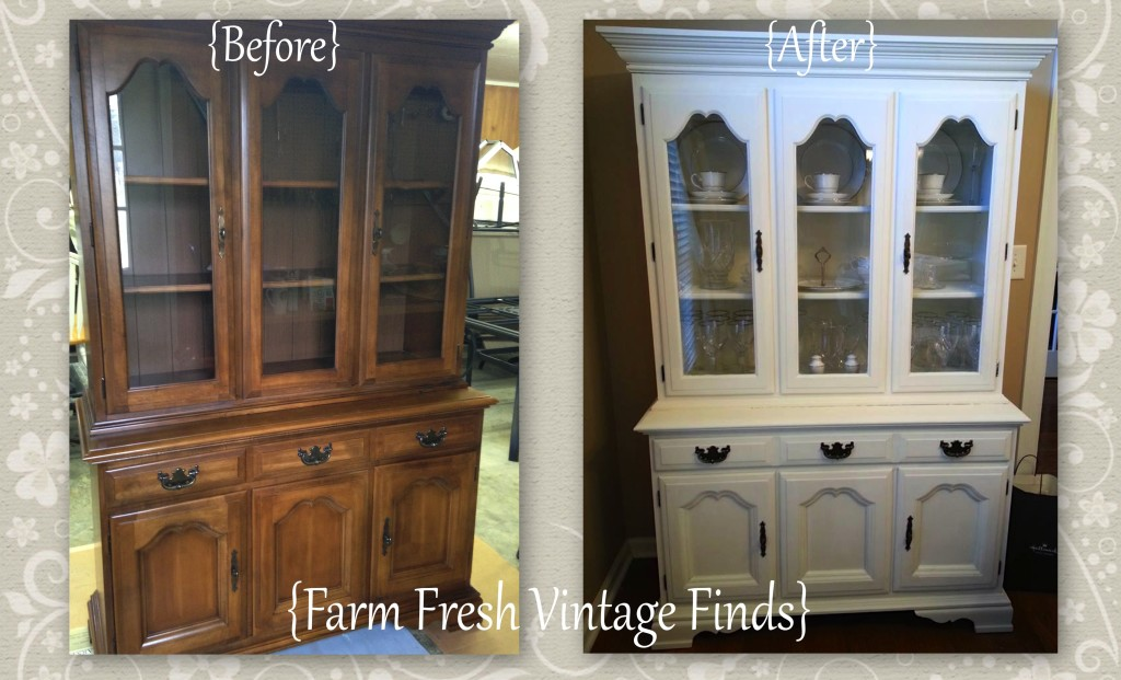 White Painted Hutch