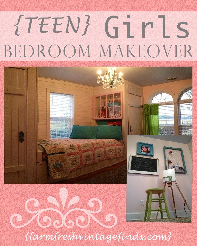 Teen girls dream bedroom reveal farm fresh vintage finds for Dream room maker