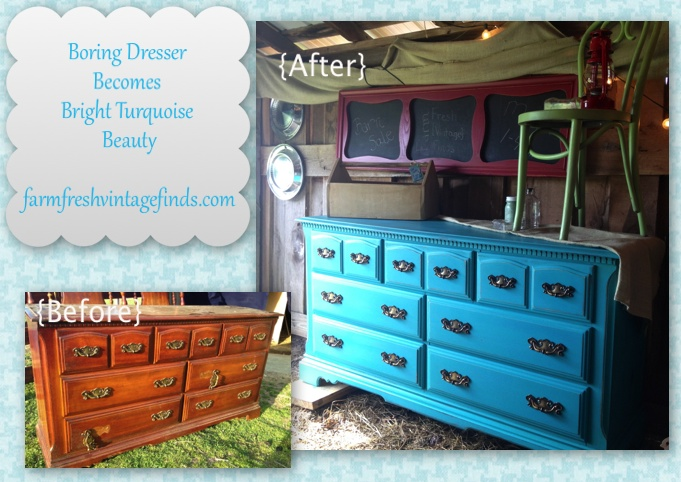 sherwin williams chalk paint Dresser Painted with Sherwin Williams Latex Paint   Farm Fresh  sherwin williams chalk paint