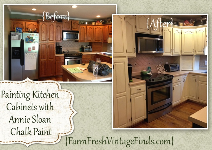 Chalk Paint Over Laminate Kitchen Cabinets