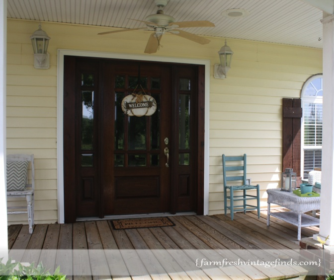 how we replaced our front door farm fresh vintage finds