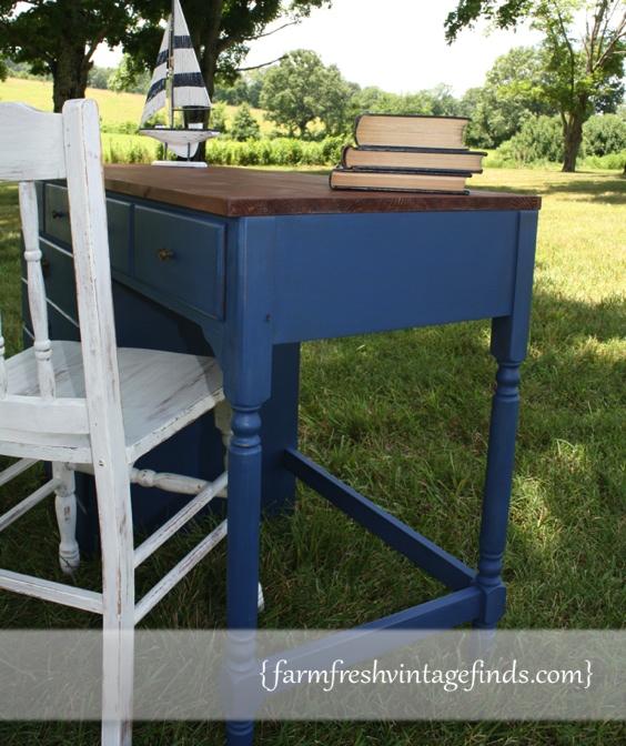Napoleonic Blue Desk