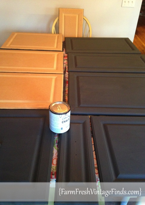 Painting Kitchen Cabinets With Graphite Chalk Paint