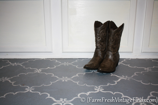 How To Stencil A Porch Floor Farm Fresh Vintage Finds