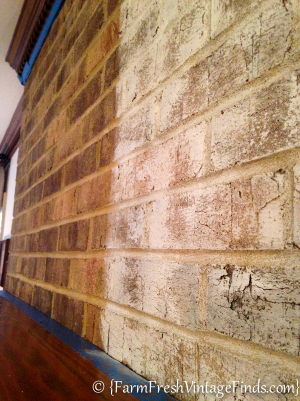 How To Whitewash Brick Farm Fresh Vintage Finds
